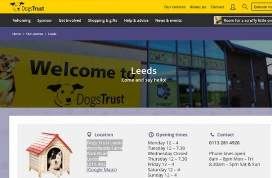 Dogs Trust Rehoming Centre