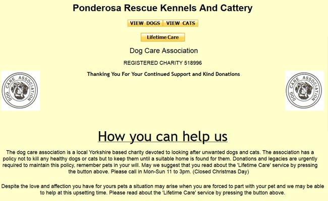 Ponderosa Dog Care Association