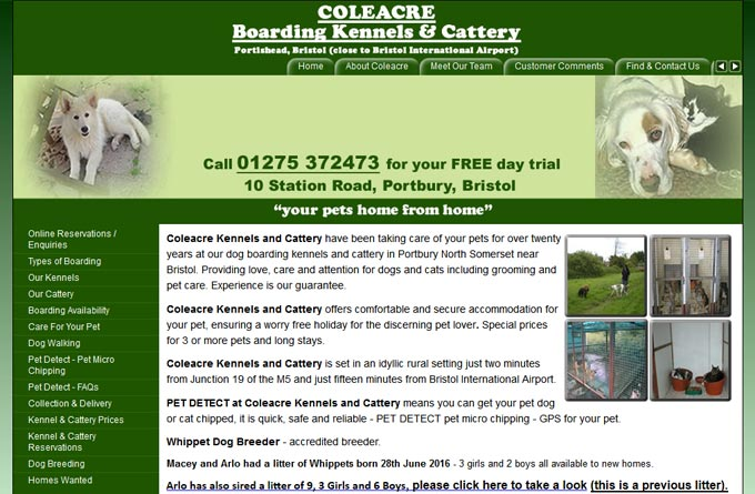 Coleacre Kennels And Cattery In Portbury British Kennels Directory